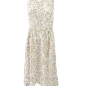 A Papell Women's Floral-Embroidered Fit & Flare